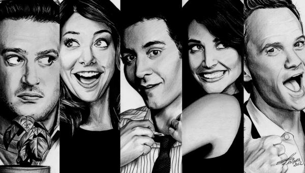 Josh Radnor, Cobie Smulders, Jason Segel, Neil Patrick Harris, Alyson Hannigan by greg-drawings